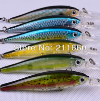 2013 Top Quality Exported to Japan Market 6 colors fishing lures fishing bait fishing hard bait lures with retail box Free Ship