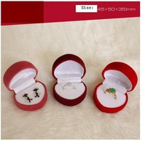 Top Quality ZY-JPR001  Velvet PACKAGING Jewelry BOX For Ring and Stud Earring Random Colors