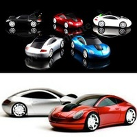 Free shipping 2.4G 1200DPI 3D Car Shape Wireless Optical Mouse Mice for Laptop PC USB Receiver