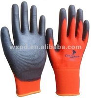 CE non-slip PU gloves