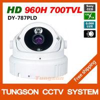New Arrival, HD 1/3''Sony Effio 700TVL Video Surveillance 3DNR 1*Array IR Outdoor/Indoor Waterproof Dome Security CCTV Camera