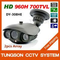 2014 Best Sony 960H Effio 700TVL OSD Menu Video Surveillance Outdoor Waterproof Night Vision Array infrared Security CCTV Camera