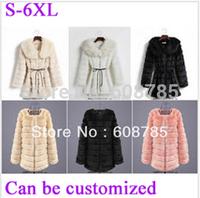 Plus size XXXXL Autumn Winter Elegant Women's Faux Fur Coat Medium-long Fur Coats Overcoat Fake Fur Jackets Free shipping M181
