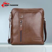 Hot Sale New 2014 High Quality Designer Vintage Fashion Zipper Genuine Leather Men Shoulder Bag Business Messenger Bags NO1215