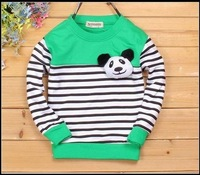 bear head bowtie sweater  1~5years Cute bear Blouses Baby clothing kids winter sweatshirts infant cotton clothes wholesale