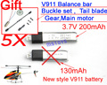 New arrival  WL V911 RC Helicopter Upgraded 200mAh Battery  spare part Accessory wholesale 1lot=5pcs