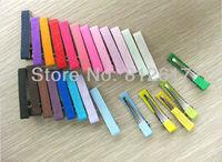4cm Mix colors 100pcs  DIY hair Accessory clips Baby girl  Ribbon Hair Bows Clip hairband BBFX-1