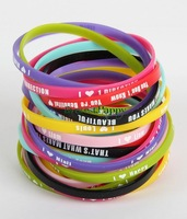 200pcs mix lot 5mm Super Star 1D One Direction  I Love 1D Silicone Bracelets Wristbands Jewelry Hot Gift Wholesale Bulk