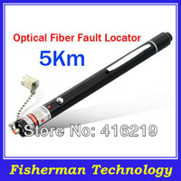 Free Shipping 5Km Optical Fiber Visual Fault Locator, Fiber Optic Cable Tester.