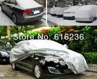 HOT!!silver color Car Covers,super promotion price!!!Dustproof, Resist snow L size universal suit