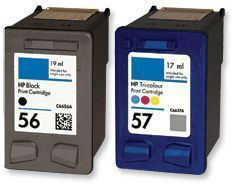 Free shiping! 100% Quality Guaranteed! 1 set remanufactured Ink cartridge use for C6656A/CC6657A hp 56 hp56 / hp 57 hp57(China (Mainland))