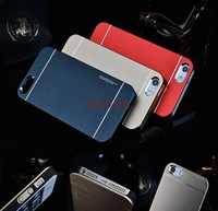 New 2014 Transparent Bumper Case for iPhone 4 4s and Cover for 5 5s(Assorted Colors) Free Shipping