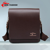 Hot Fashion New 2014 Mens Genuine PU Leather Shoulder Messenger Bag Briefcase 2 Colors 3 Size Brown Black NO98 Free Shipping