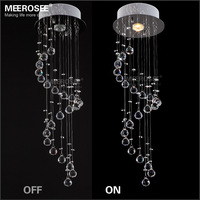 2014 Lampshade Lustre Ceiling Lamp Top Selling Small Crystal Chandelier Light Fixture Modern Long Spiral Ceiling Pendant Lamp
