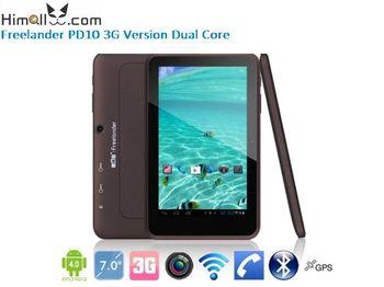 "Best Price 7"" Freelander PD10 Dual Core 3G WCDMA  2G GSM tablet pc MTK6577 1.2Ghz 1GB RAM 8GB Dual SIM Bluetooth HDMI GPS"