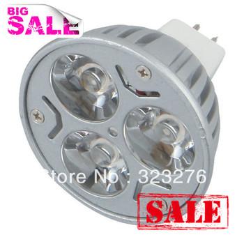 100pcs/lot FreeShipping DC12V MR16 LED light bulbs HIGH POWER 3W 3*1w LED SPOTLIGHT led BULB Warm white Cool white wholesale