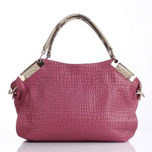 Fashion Women Handbags Grace 100% Genuine Leather Handbag Stone Grain Bags Classic Lady Crocodile Shoulder Bags Tote