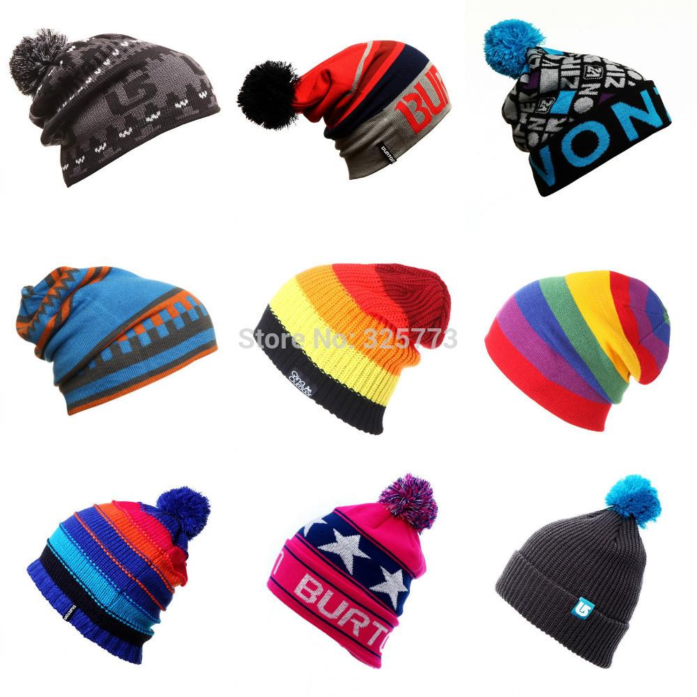 (3 pieces 30%off ) BURTON 0032 snowboard Winter Ski skating caps & hats skullies and beanies wool knitted man woman(China (Mainland))