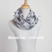 Free shipping!  new  butterfly  print  scarf  with low factory price(PP052L)