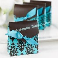 Free Shipping 1000pcs Damask Flourish Favor Box Wedding candy bag and wedding favor TH013