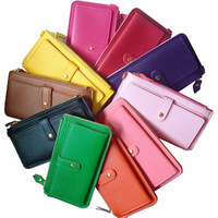 HOTTEST selling fashion 11 assorted colors lady purses and wallets with wrist strap design (WX03)