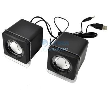New Portable PC Sound For USB Notebook MP3 Digital Mini Speaker Black Free Shipping 8828