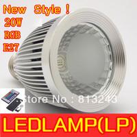 2013 New Style 20W RGB Spotlight   LED Lamp E27 led Bulb Lamp with Remote Control led lighting  high power rgb bulb freeshipping