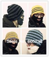 10 pieces / lot  Beard Hat Knit Beard Hat