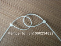 Free shipping (1000pcs/bag) 2.0mm*100mm Self-locking Nylon cable wire ties zip ( White or black )