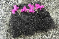"malaysian unprocessed  natural wavy hair aaaa 100g/pcs 4pcs/lot 12""-28"" 1b#  free shipping"