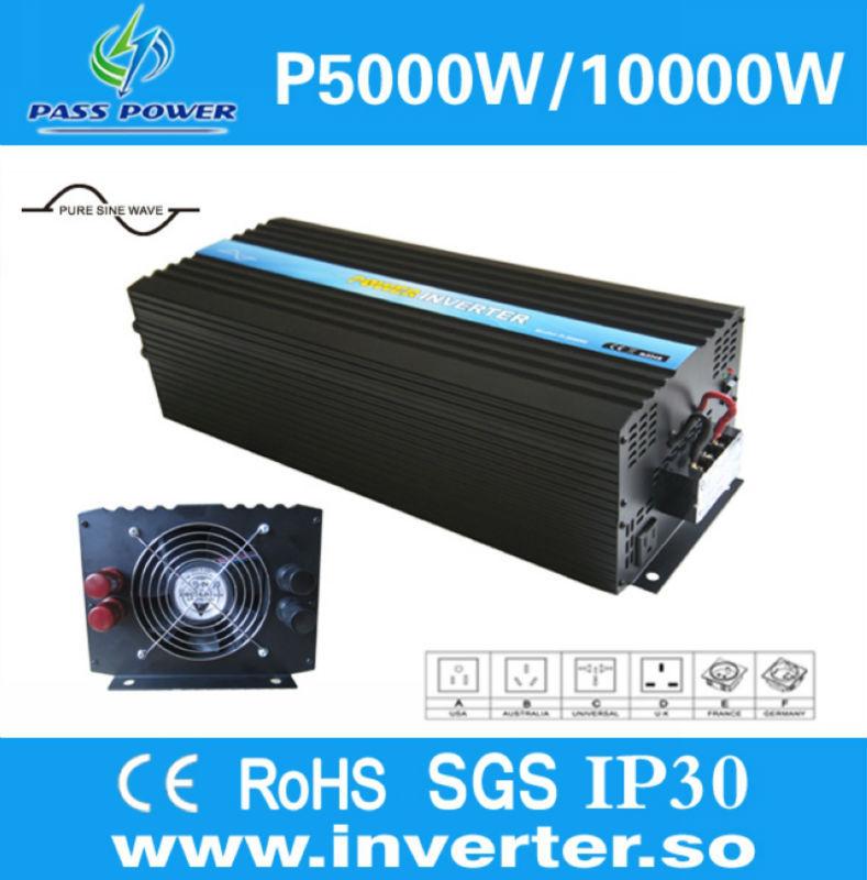 Off grid Pure Sine Wave Solar/wind Power Inverter 5000W/5kw DC 48V TO AC 240V(China (Mainland))