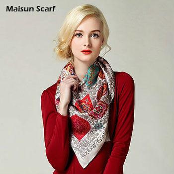 100 silk 14mm twill scarves 90X90cm square brand head scarf hijab