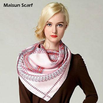 14mm twill 100 silk big square 90X90cm muslim under scarf