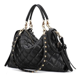 Good quality 2012 new fashion cheap stereo pleated fashion bags large capacity 3 way women's handbag(China (Mainland))