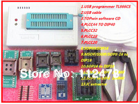 2014 New! Russian & English Software V6.0 MiniPro TL866CS USB Universal Programmer/Bios Programmer support 13143 +9 adapters