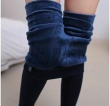 Tendência Knitting grátis frete venda quente 2014 inverno nova alta da senhora engrossar elástica Leggings calças quentes calças skinny para as mulheres(China (Mainland))