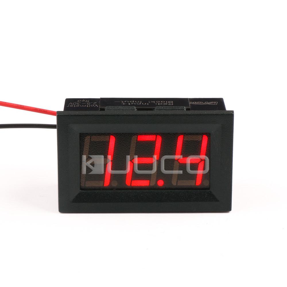 """5 PCS/LOT DC 3V ~ 30V Digital Voltmeter 0.56"""" Red Led Display Voltage Tester DC 12V 24V Car Voltmeter(China (Mainland))"""