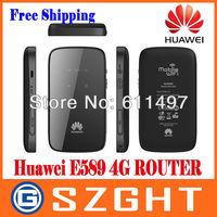 Free shipping Brand New HUAWEI E589 4G Mobile wifi Hotspot Huawei E589 router