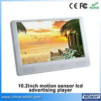 10.2inch plastic shell supermarket SD USB motion sensor lcd advertising video player Guaranteed 100%