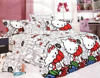 Luxury Brand Hello Kitty bedding sets queen size 4pcs Princess comforter/duvet cover bed sheet bedclothes cotton home textile