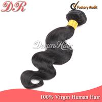 "10""-30""  Brazilian Virgin Human Weave Hair Weft Extensions 1 Bundle Natural Black Body Wave  3.52 ounces/pc  Derun Wavy Hair"