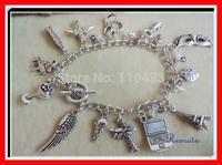 Inspired 50 fifty shades of grey bracelet charm bracelet necktie handcuff mask icecream tower Charlie tango BF047