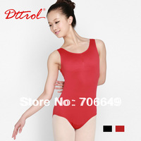 Dttrol free shipping hot sell black Pinch Front Tactel Tank dance ballet Leotard (D004852)
