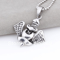 Hot Sale 316L Stainless Steel Charms Aquarius Pendant Necklace For Women And Men,Retail,Free Shipping D166