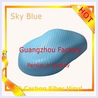 3D Carbon Fiber 3D Twill-Weave Texture foil Vinyl Wrap vinyl film Car Sticker 1.52x30m Car Styling with bubble free sky blue