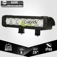 60W 11 Inch Cree Offroad Worklight Bar Auto 4WD ATV Yacht Military Trailer SUV Refit Bumper Headlight Driving Fog Lamp