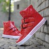 Hot sale men's sneakers 2013 brand new sport shoes men hip hop shoe retail/wholesale Black/Red/White Free shipping(China (Mainland))