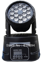 Free Shipping LED Mini Moving Head WASH Stage Lighting 18*3W have in stock sals 500-1000pcs more best price