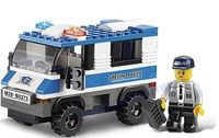 Sluban 126pcs/set  DIY Special Prisoner Police Car Children's Educational Building Blocks Toy Set B0273,  Free Shipping