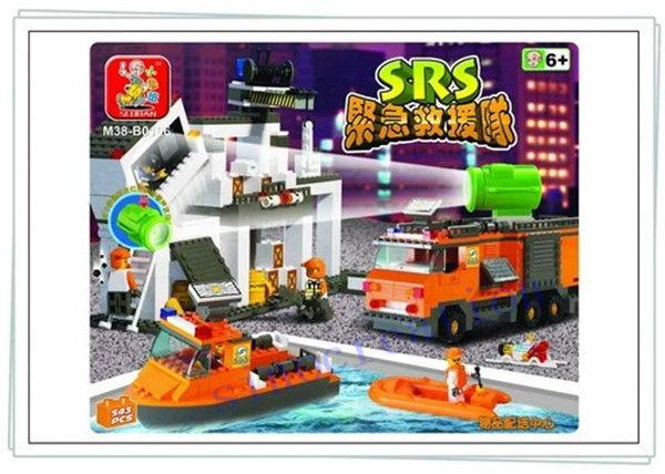 Sluban DIY SRS Rescue Team Toy For Children's Educational Building Blocks Toy Set B0106, 543pcs/set, Free Shipping(China (Mainland))